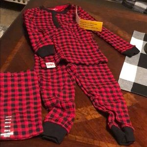 Ralph Lauren red/Black plaid pjs new with tags